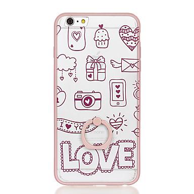 Για Βάση δαχτυλιδιών Διαφανής Με σχέδια tok Πίσω Κάλυμμα tok Κινούμενα σχέδια Σκληρή PC για AppleiPhone 6s Plus iPhone 6 Plus iPhone 6s
