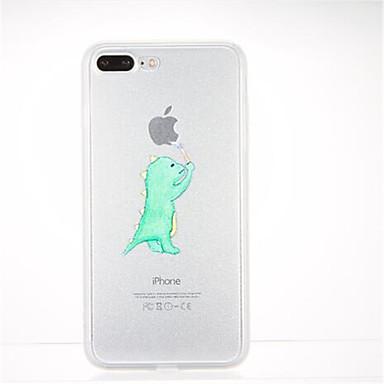 Kılıf Na Apple iPhone 7 Plus iPhone 7 Wzór Czarne etui Zabawa z logiem Apple Miękkie TPU na iPhone 7 Plus iPhone 7 iPhone 6s Plus iPhone