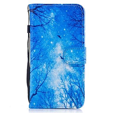 Varten Lomapkko Korttikotelo Tuella Flip Kuvio Etui Kokonaan peittävä Etui Maisema Kova Tekonahka varten HuaweiHuawei P9 Lite Huawei Y560