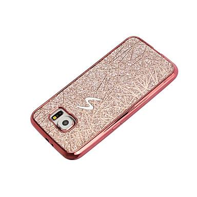 Maska Pentru Samsung Galaxy S7 edge S7 Placare Capac Spate Luciu Strălucire Moale TPU pentru S7 edge S7 S6 edge S6 S5 Mini S5