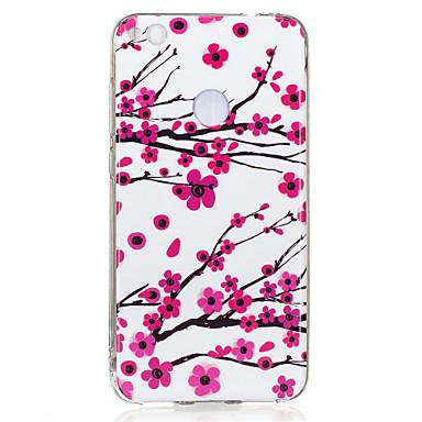 Pouzdro Uyumluluk Huawei Karanlıkta Parlayan IMD Temalı Arka Kılıf Çiçek Yumuşak TPU için Huawei P10 Lite Huawei P10 Huawei P9 Lite