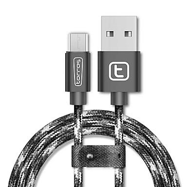 USB 2.0 Micro USB 2.0 Punottu Kaapeli Käyttötarkoitus Samsung Huawei Sony Nokia HTC Motorola LG Lenovo Xiaomi 200 cm Nylon Alumiini TPE