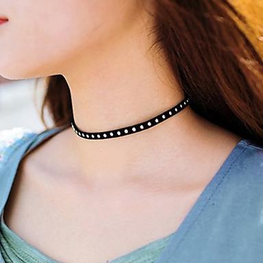 Pentru femei Șuviță unică Personalizat De Bază Modă Euramerican stil minimalist Coliere Choker Bijuterii Material Textil Coliere Choker .