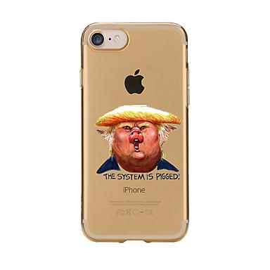tok Για Apple iPhone 7 Plus iPhone 7 Διαφανής Με σχέδια Πίσω Κάλυμμα Κινούμενα σχέδια Μαλακή TPU για iPhone 7 Plus iPhone 7 iPhone 6s
