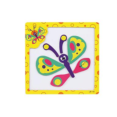 3D palapeli Palapeli Palikkapelit Puumalli Opetuslelut Lelut Butterfly 3D Magneetti Puu Lasten Pieces