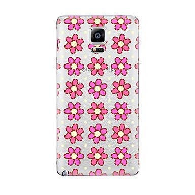 Kılıf Na Samsung Galaxy Przezroczyste Wzór Czarne etui Kwiaty Miękkie TPU na Note 5 Note 4 Note 3 Note 2
