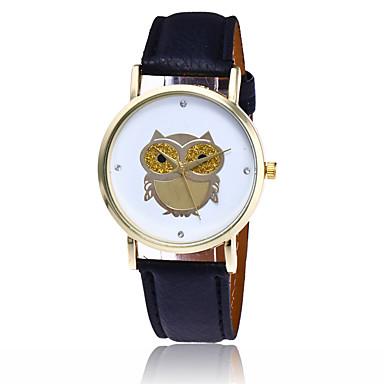 pentru Doamne Ceas La Modă Ceas de Mână Quartz / PU Bandă Cool Casual Bufniță Negru Alb