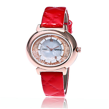 Erkek Bilek Saati Moda Saat Quartz / PU Bant Günlük Havalı Siyah Beyaz Mavi Kırmızı Kahverengi Yeşil Pembe
