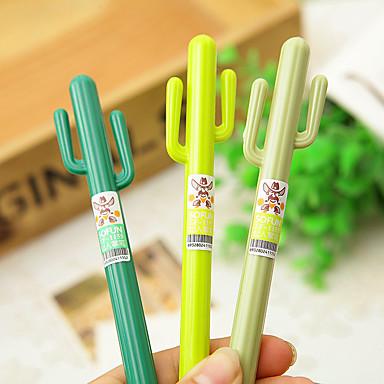 Gel Pen Długopis Pióra żelowe Długopis, Plastikowy Czarny Atrament Kolory For Przybory szkolne Artykuły biurowe Paczka