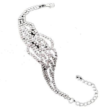 Pentru femei Brățări cu Lanț & Legături Ștras Aliaj La modă Geometric Shape Auriu Argintiu Bijuterii 1 buc