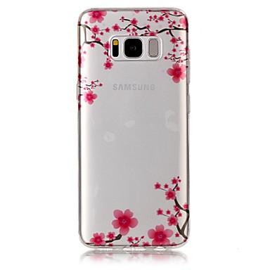 Maska Pentru Samsung Galaxy S8 Plus S8 IMD Transparent Model Carcasă Spate Floare Moale TPU pentru S8 S8 Plus S7 edge S7 S6 edge S6 S5