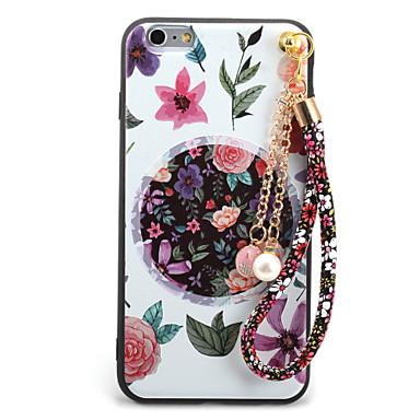 Etui Käyttötarkoitus Apple iPhone 7 Plus iPhone 7 Kuvio Koristeltu DIY Takakuori Kukka Pehmeä TPU varten iPhone 7 Plus iPhone 7 iPhone 6s