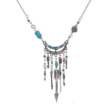 Pentru femei Turcoaz Cristal Imitație de Perle Cristal Imitație de Perle Turcoaz Coliere - Personalizat Ciucure Vintage Euramerican