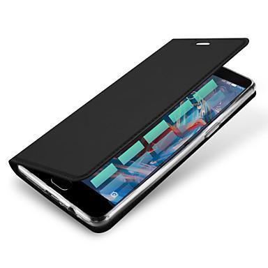 tok Για OnePlus Ένα Plus 3 Θήκη καρτών Αυτόματη αδράνεια / αφύπνιση Ανοιγόμενη Μαγνητική Πλήρης Θήκη Συμπαγές Χρώμα Σκληρή PU δέρμα για