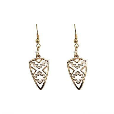 Kadın's Damla Küpeler Moda Euramerican alaşım Trójkąt Geometric Shape Mücevher Düğün Parti Günlük Spor