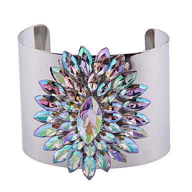 Kadın's Halhallar Mücevher Moda Eski Tip Punk Tarzı Değerli Taş alaşım Geometric Shape Mücevher Uyumluluk Özel Anlar