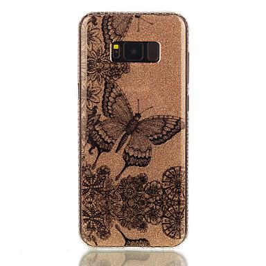 Pouzdro Uyumluluk Samsung Galaxy S8 Plus S8 IMD Temalı Arka Kılıf Kelebek dantel Baskı Işıltılı Parlak Sert PC için S8 S8 Plus S7 edge S7