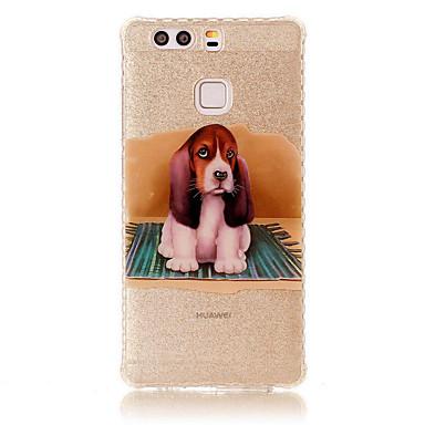 Για IMD Με σχέδια tok Πίσω Κάλυμμα tok Σκύλος Μαλακή TPU για Huawei Huawei P9 Huawei P9 Lite Huawei P8 Lite