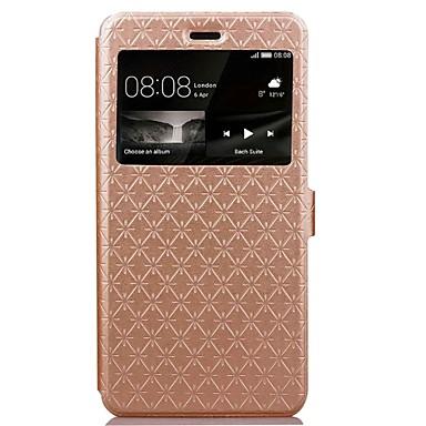 Pentru Portofel Titluar Card Cu Stand Maska Corp Plin Maska Model Geometric Greu PU piele pentru Huawei Huawei P9 Lite