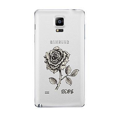 Για Διαφανής Με σχέδια tok Πίσω Κάλυμμα tok Λουλούδι Μαλακή TPU για Samsung Note 5 Note 4 Note 3 Note 2
