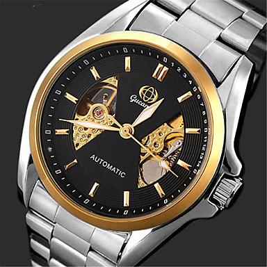 Bărbați Quartz Ceas de Mână cald Vânzare Oțel inoxidabil Bandă Casual Modă Argint