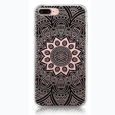Için Temalı Pouzdro Arka Kılıf Pouzdro Mandala Yumuşak TPU için AppleiPhone 7 Plus iPhone 7 iPhone 6s Plus iPhone 6 Plus iPhone 6s iphone