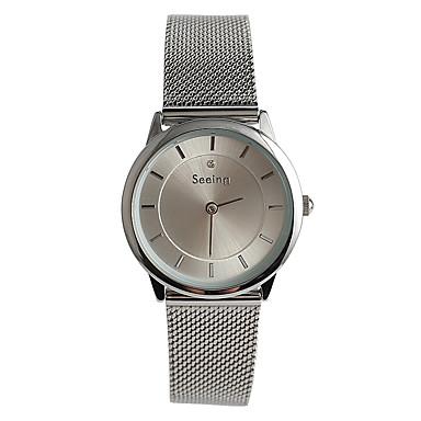 Kadın's Moda Saat Quartz / Büyük indirim Paslanmaz Çelik Bant Günlük Gümüş