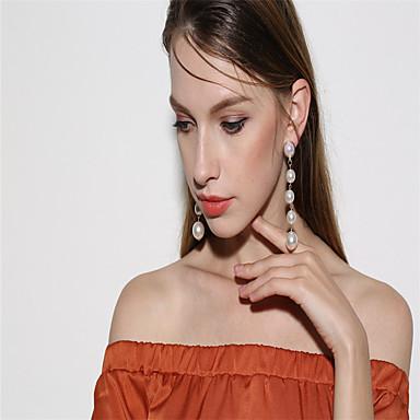 Γυναικεία θαυμαστής σκουλαρίκια Απομίμηση Μαργαριτάρι Εξατομικευόμενο Κρεμαστό Κρεμαστό κόσμημα Απομίμηση Μαργαριταριού Μοντέρνα