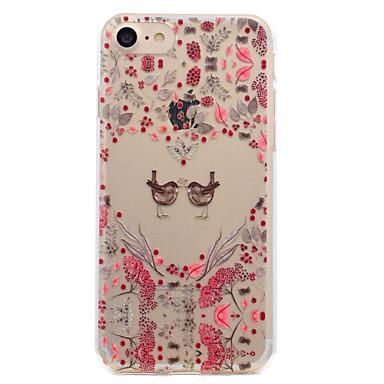 Etui Käyttötarkoitus Apple Läpinäkyvä Kuvio Takakuori Sydän Pehmeä TPU varten iPhone 7 Plus iPhone 7 iPhone 6s Plus iPhone 6 Plus iPhone