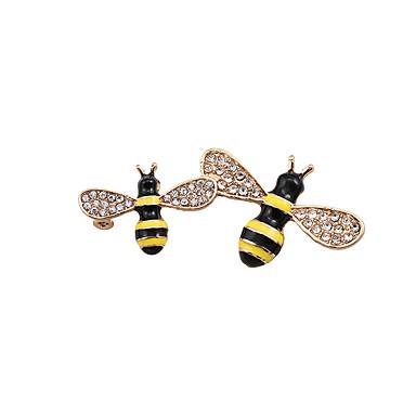 Bărbați Pentru femei Dame Broșe Design Animal Prietenie bijuterii de lux Adorabil Ștras Email Diamante Artificiale Aliaj Animal Shape