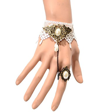 Kadın's Zincir & Halka Bileklikler Moda Dantel Crown Shape Mücevher Uyumluluk Düğün Parti Özel Anlar Doğumgünü Yılbaşı Hediyeleri