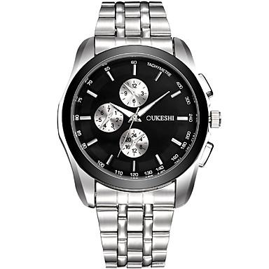 Bărbați Ceas Elegant Ceas La Modă Ceas Casual Chineză Quartz Oțel inoxidabil Bandă Cool Casual Argint Alb Negru