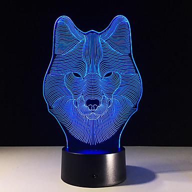 1 piesă Lumină de noapte Telecomandă Vedere nocturnă Mărime Mică Schimbare - Culoare Artistic LED Modern/Contemporan