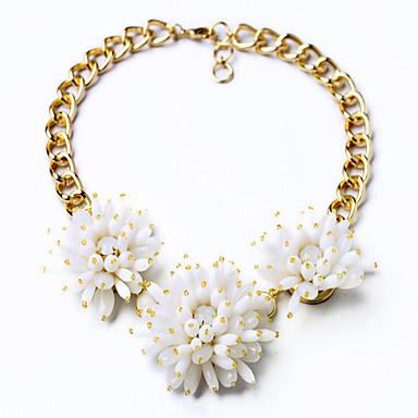 Damskie Pasemka Naszyjniki Kryształ Flower Shape Modny Osobiste White Czerwony Biżuteria Na Ślub 1szt