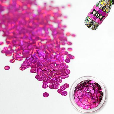 1 bottle Nail Jewelry Glitter & Poudre Diğer Süslemeler pırıltılar Moda Sevimli Parıltılı Düğün Yüksek kalite Günlük