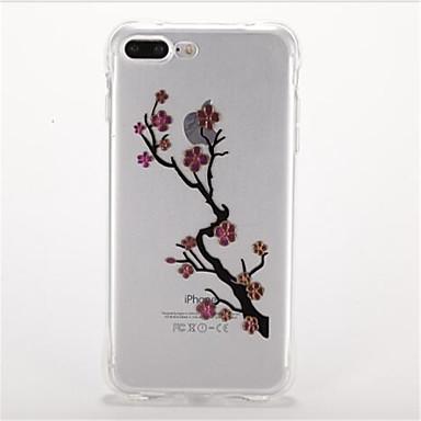 Etui Käyttötarkoitus Apple Iskunkestävä Pinnoitus Kuvio Takakuori Kukka Pehmeä TPU varten iPhone 7 Plus iPhone 7 iPhone 6s Plus iPhone 6