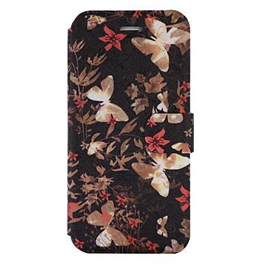 Etui Käyttötarkoitus Samsung Galaxy J5 (2016) J3 (2016) Korttikotelo Tuella Flip Kuvio Kokonaan peittävä Perhonen Kova PU-nahka varten