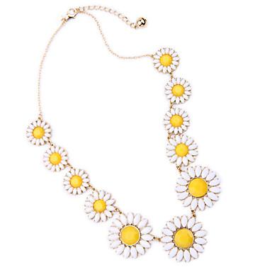Pentru femei Coliere cu Pandativ Cristal Flower Shape Design Unic bijuterii de lux Personalizat Galben Bijuterii Pentru 1 buc