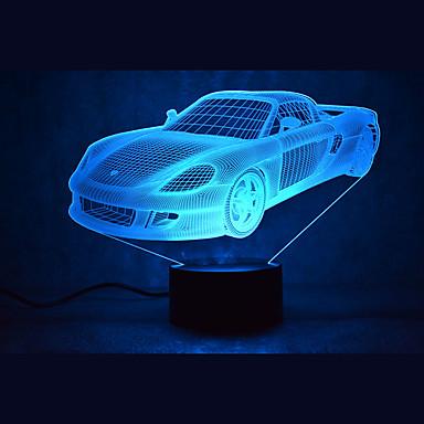 1 piesă 3D Nightlight Multicolor USD Senzor Intensitate Luminoasă Reglabilă Rezistent la apă Schimbare - Culoare