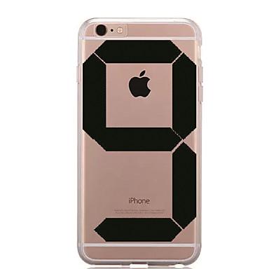 Için Şeffaf Temalı Pouzdro Arka Kılıf Pouzdro Oynanan Apple Logosu Yumuşak TPU için AppleiPhone 7 Plus iPhone 7 iPhone 6s Plus iPhone 6