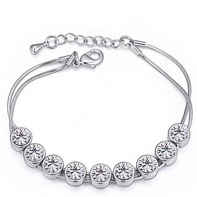 Kadın's Strand Bilezikler Mücevher Arkadaşlık Moda Kristal alaşım Geometric Shape Mücevher Parti Doğumgünü