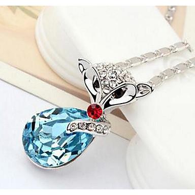 Kadın's Uçlu Kolyeler Kristal Kişiselleştirilmiş Moda Euramerican İngiliz Mücevher Uyumluluk Düğün Parti Doğumgünü