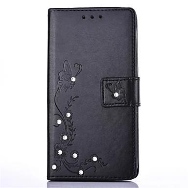 Etui Käyttötarkoitus LG K8 LG LG K4 LG K10 LG K7 LG G5 Korttikotelo Paljetti Tuella Flip DIY Suojakuori Kukka Kova PU-nahka varten