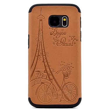 Maska Pentru Samsung Galaxy S8 Plus S8 Embosat Model Carcasă Spate Turnul Eiffel Greu PU Piele pentru S8 S8 Plus S7 edge S7