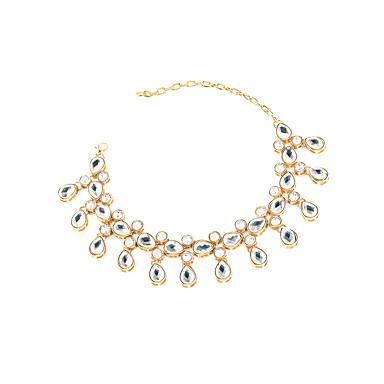 Kadın Ayak bileziği/Bilezikler Kristal Moda Damla Altın Gümüş Bayanlar Mücevher Için Günlük 1pc