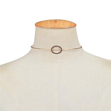 Naisten Geometric Shape Yksilöllinen Geometrinen Euramerican Choker-kaulakorut Korut Kupari Choker-kaulakorut , liiketoiminta Päivittäin