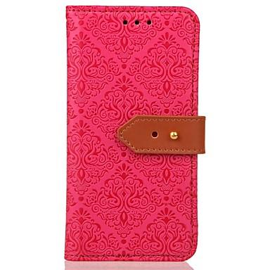 tok Για LG G3 / LG / LG G4 Πορτοφόλι / Θήκη καρτών / με βάση στήριξης Πλήρης Θήκη Λουλούδι Σκληρή PU δέρμα για LG G4 Stylus / LS770