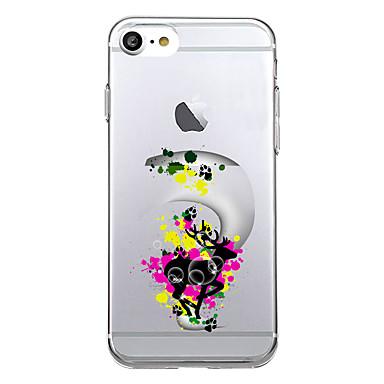 من أجل أغط / كفرات نحيف جداً نموذج غطاء خلفي غطاء حيوان ناعم TPU إلى Appleفون 7 زائد فون 7 iPhone 6s Plus iPhone 6 Plus iPhone 6s أيفون 6