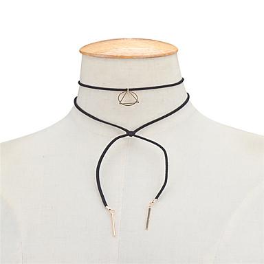 Damskie Geometric Shape Geometrické Podwójna warstwa Korygujący euroamerykańskiej minimalistyczny styl Europejski Naszyjniki choker