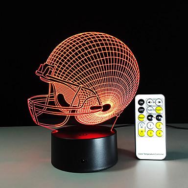 3d φως οδήγησε Chicago Bears ποδοσφαίρου κράνος άθλημα καπάκι 3D LED νύχτα φως λαμπτήρα οπτική χριστουγεννιάτικο δώρο για τα παιδιά